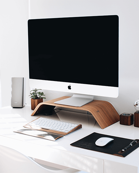 Image of an iMac on a computer desktop