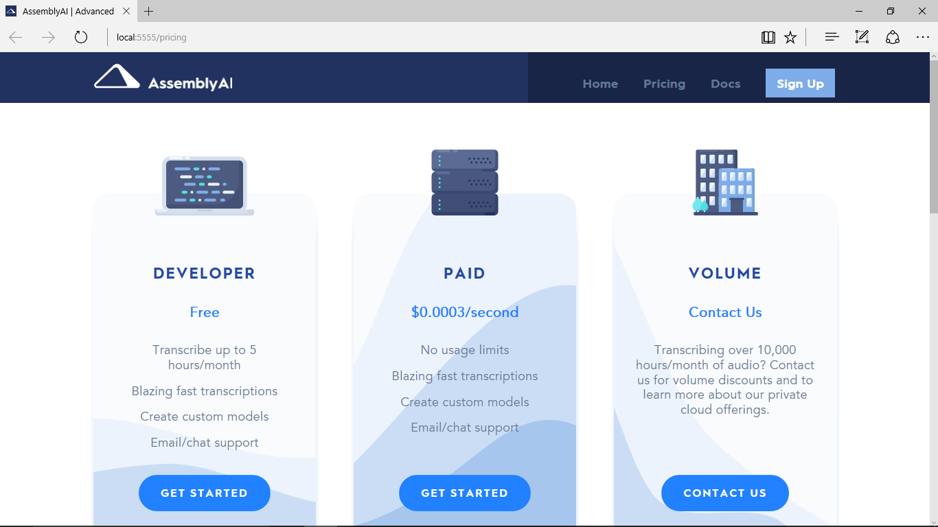 AssemblyAI Pricing Page - After